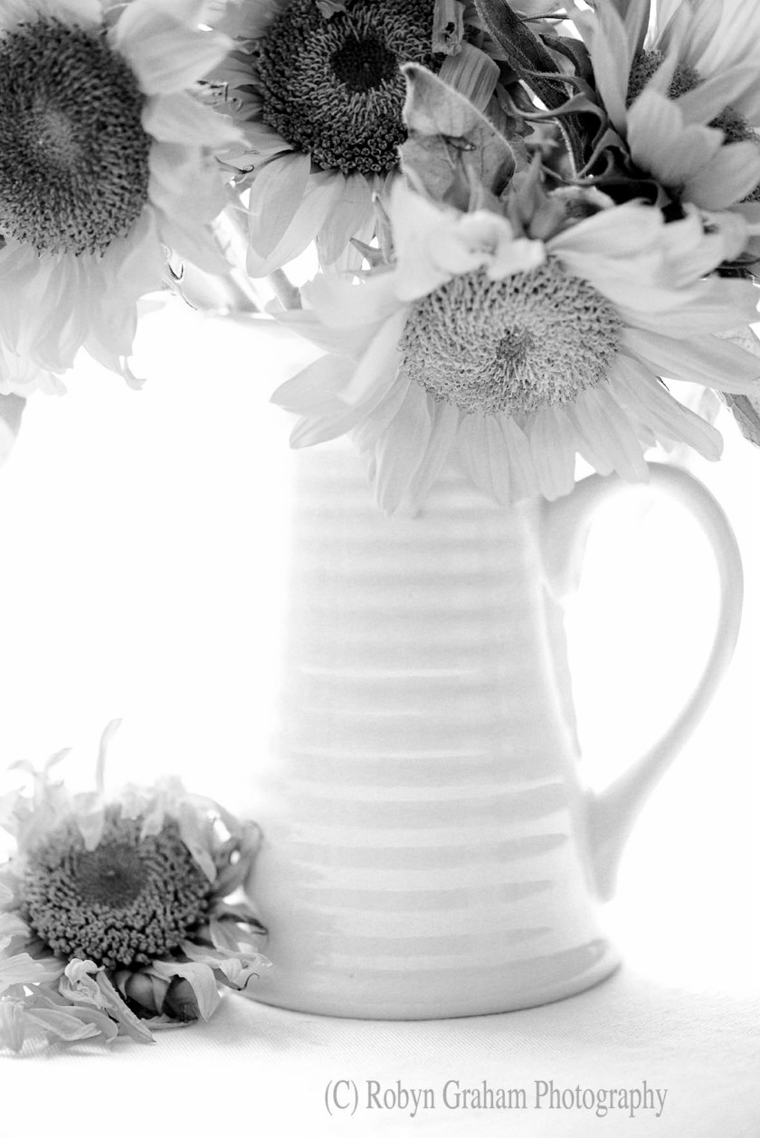 Bouquet of Adoration - Black and White