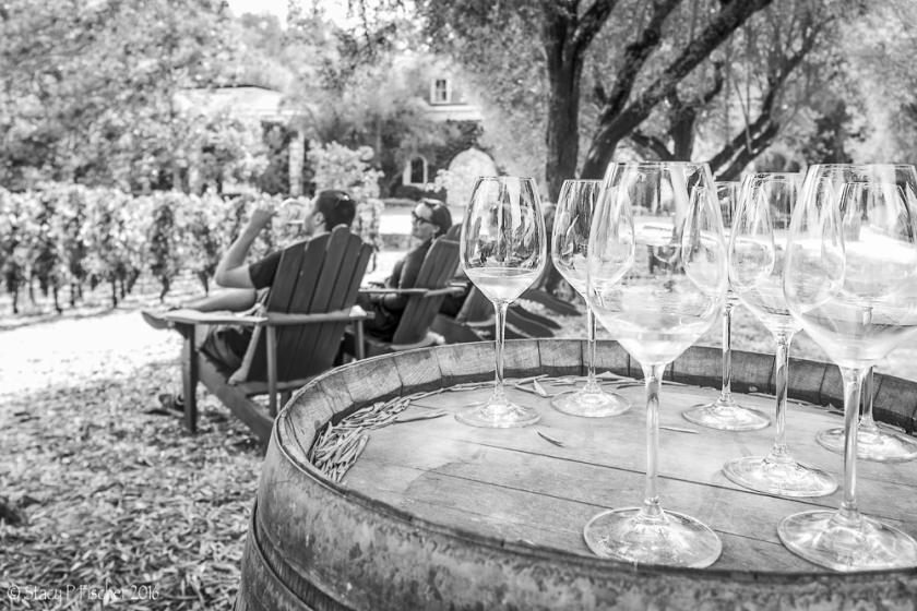 Wine tasting at Spring Mountain Vineyard, Napa Valley, California