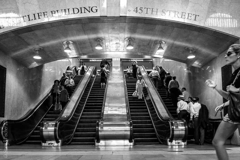 Grand Central Station escalators 45th Street