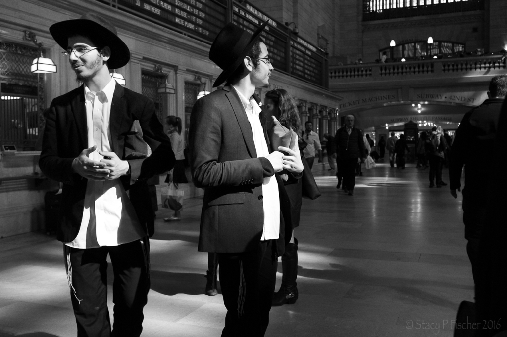 Young Male Orthodox Jews in Grand Central Station NYC