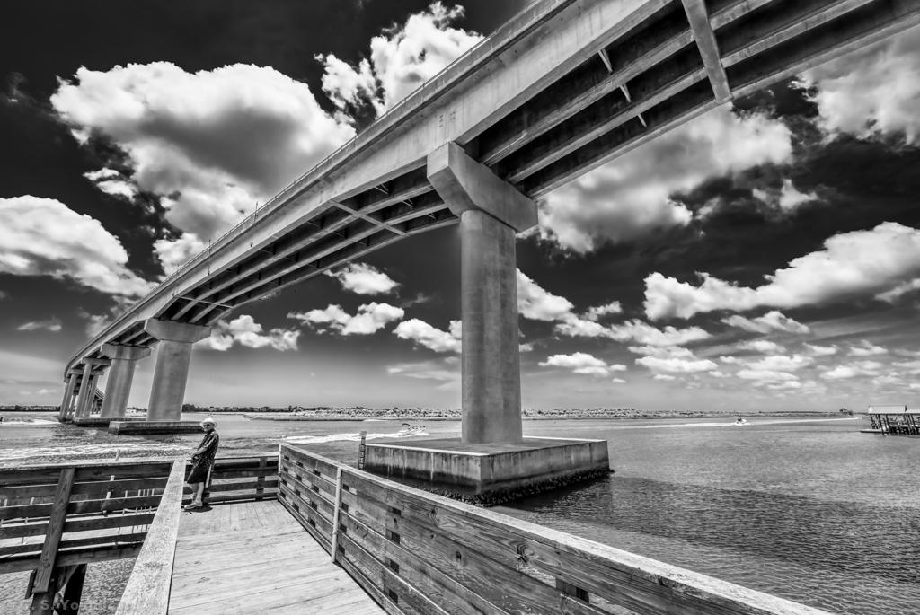 Sunset Beach Bridge Composition