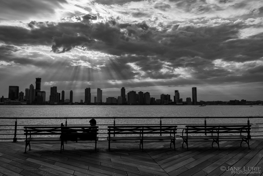 New York, Black and White, Photography, Cityscape, Hudson River