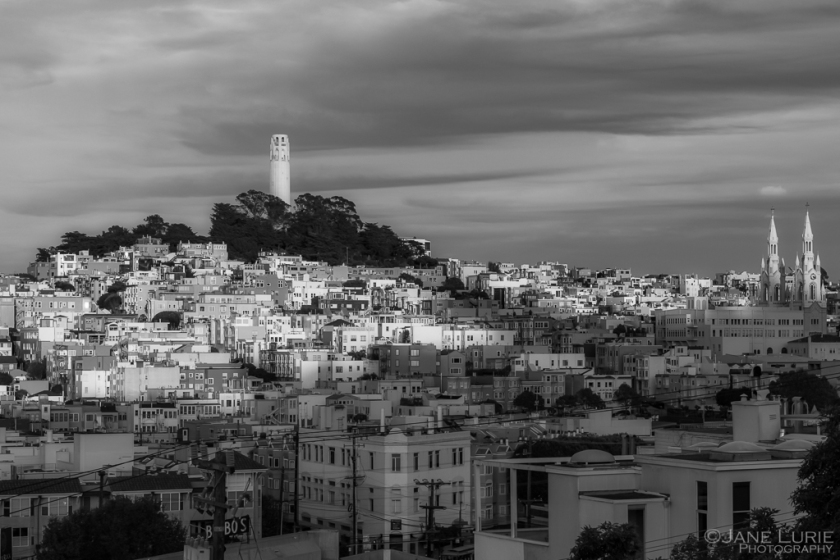 Coit Tower, San Francisco, California, Nikon, Photography, Cityscape,
