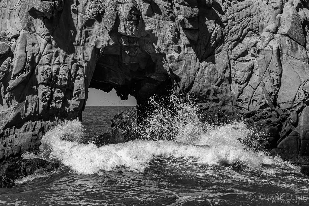 Waves, Beach, California, Big Sur, Fujifilm X-T2, Monochrome, Black and White Photography,