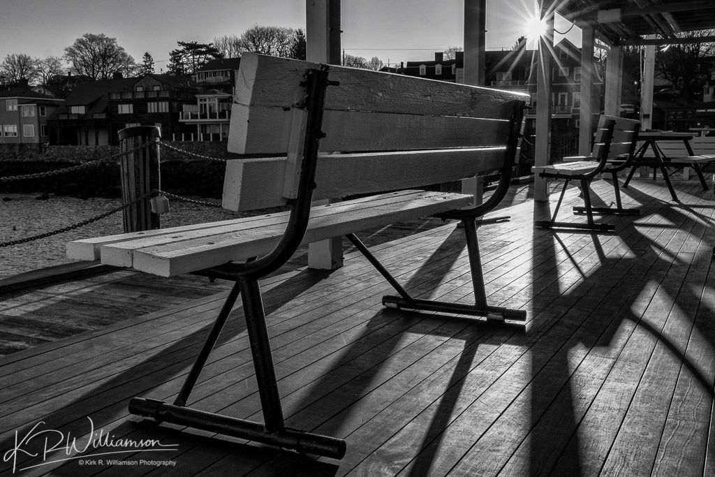 Benches and sun