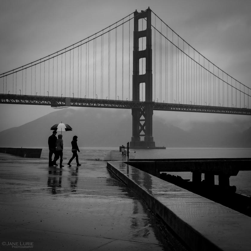 Rainy Day Walk, San Francisco