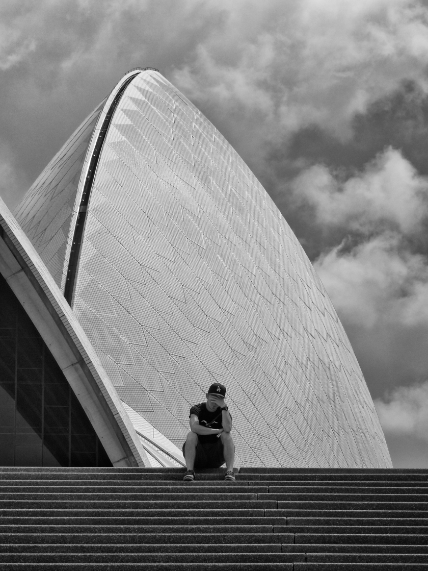 Sydney, Opera House, Photography, Black and White, Monochrome
