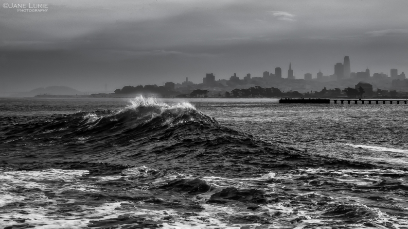 San Francisco, Wave, Black and White, Photography