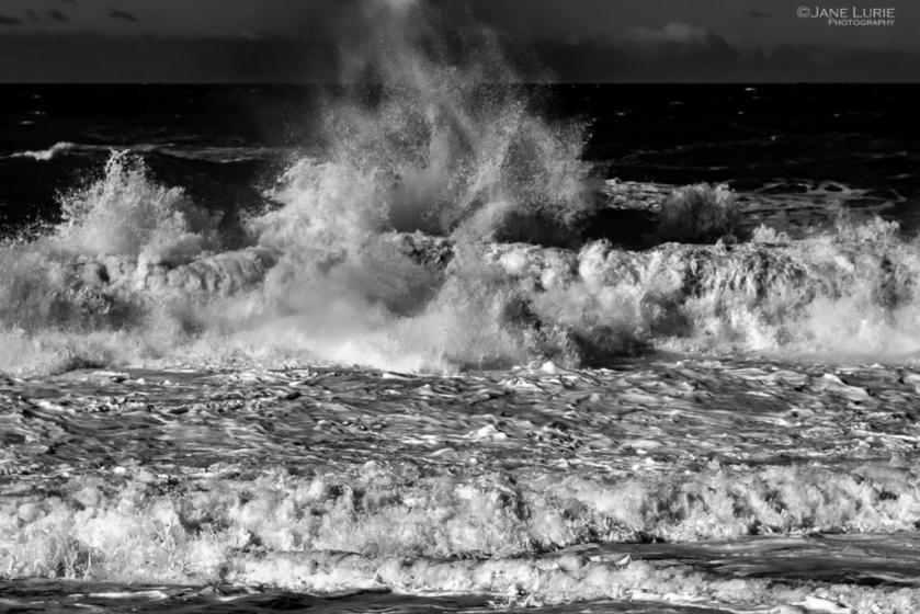 Landscape, Monochrome, Monochromia, Jane Lurie, Photography, Black and White, Ocean, Wave