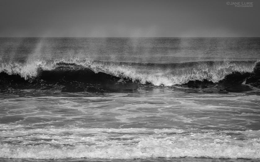 Ocean, Waves, Black and White, Photography, California, Fujifilm X-T2