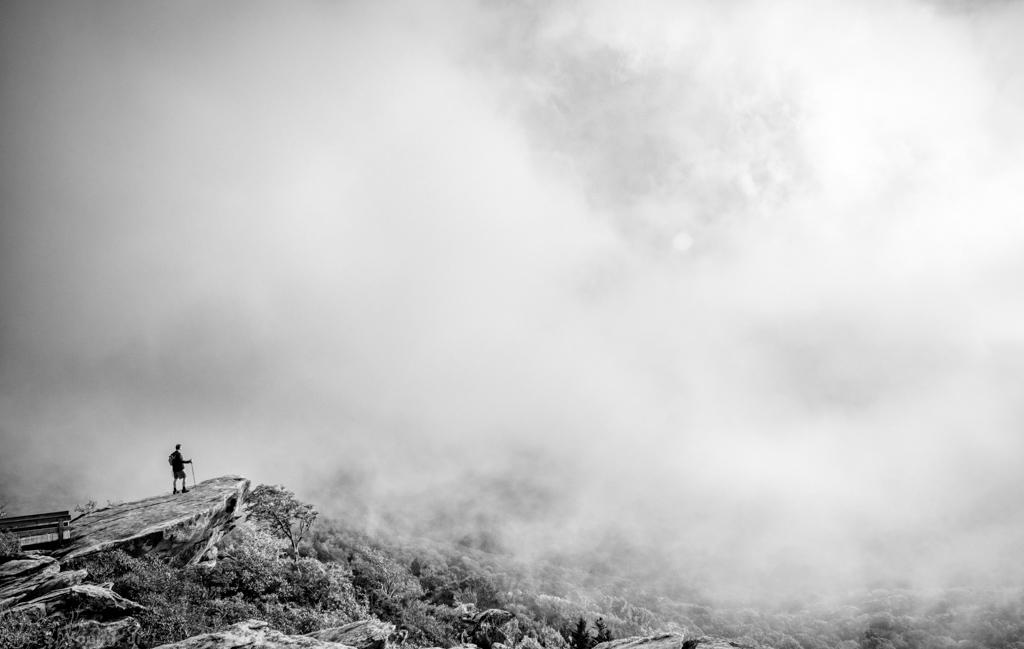 Rough Ridge Cloud Silhouette Monochrome
